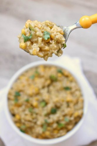 Crockpot Cheesy Enchilada Rice