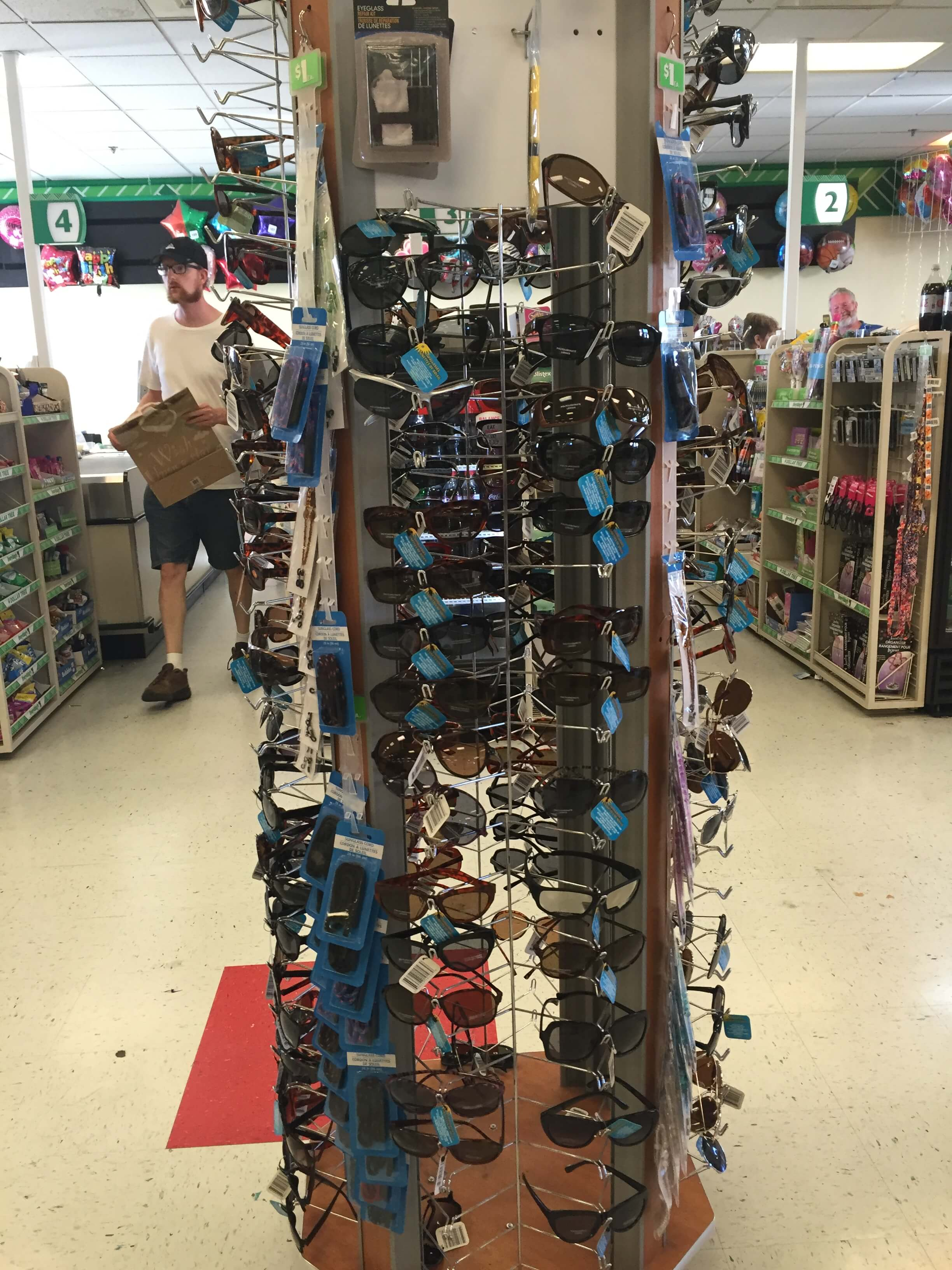 sunglasses at the dollar store