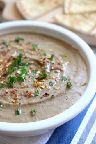 Slow Cooker Lentil Hummus