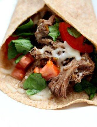 Slow Cooker French Dip Tacos