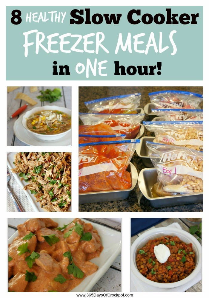 slow cooker freezer meals for working moms to prep ahead of time