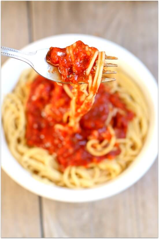 Easy Slow Cooker Spaghetti Sauce 365