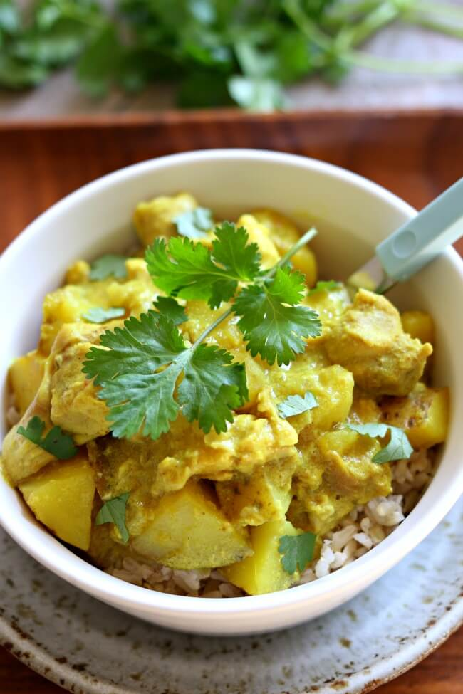 Slow Cooker Yellow Chicken Curry 365 Days Of Slow Cooking And Pressure Cooking