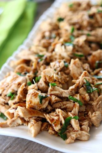 Slow Cooker 2-Ingredient Balsamic Chicken