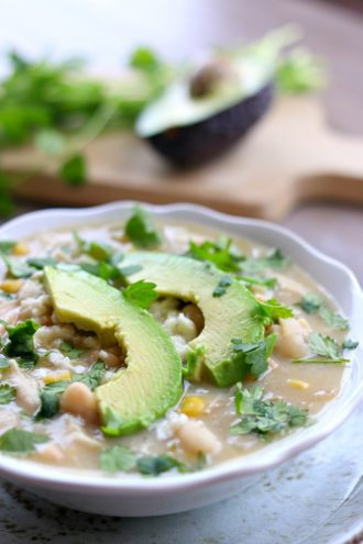 Slow Cooker Healthy White Turkey Chili