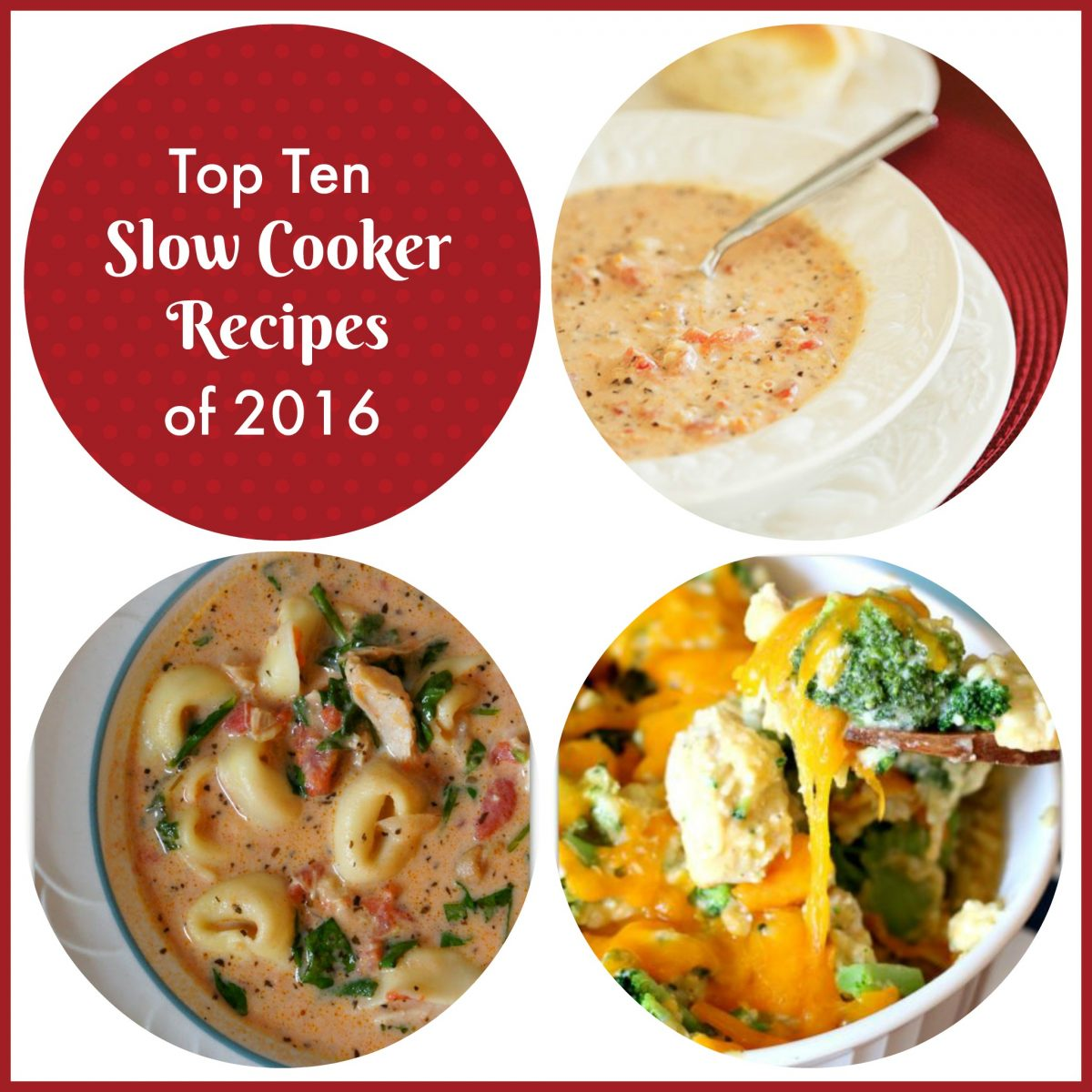 Top ten slow cooker recipes from 2016 on 365 Days of Slow Cooking