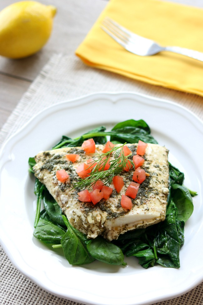 Slow cooker lemon dill halibut 365 days of slow cooking for How to cook halibut fish