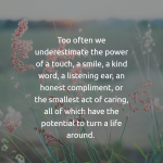 we underestimate the power of touch
