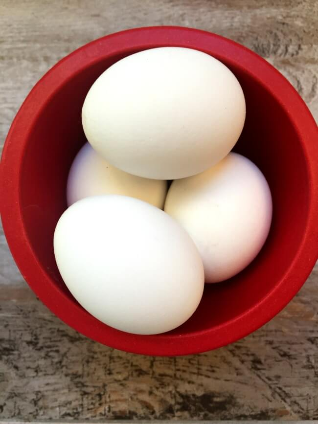Instant Pot Hard Boiled Eggs Recipe--easy to peel hard boiled eggs without the gray ring around the yolk, made in your pressure cooker in a total time of 26 minutes.