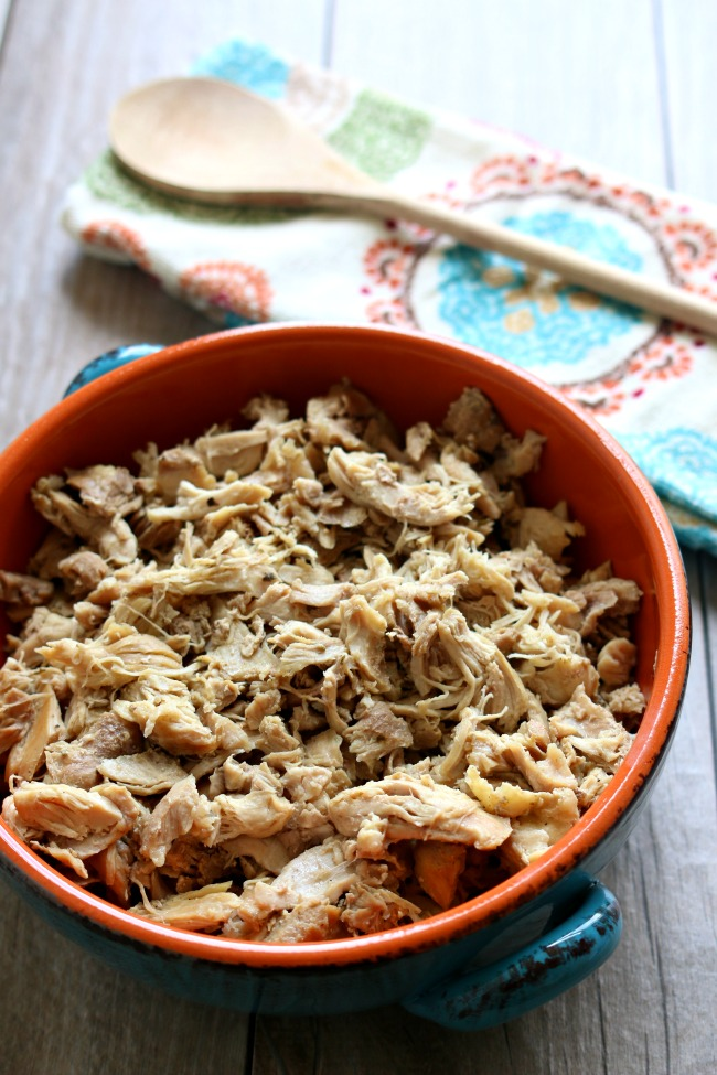 5 Ways to Use Your Instant Pot Today to Save Time All Week--the best seasoned shredded chicken
