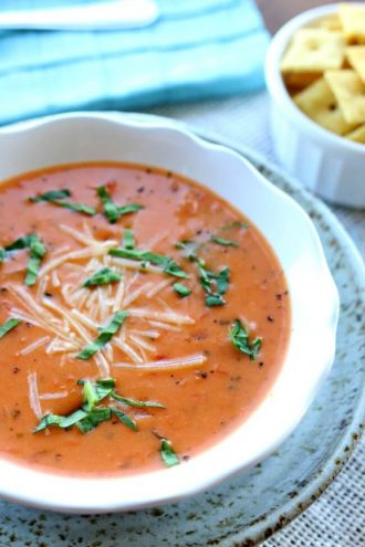 Instant Pot Tomato Basil Parmesan Soup