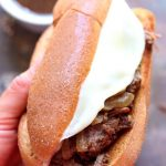 slow cooker french onion french dip sandwich