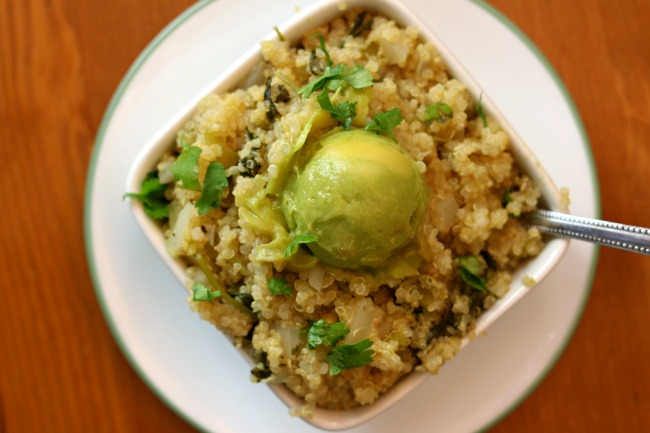 Instant Pot Cilantro Lime Quinoa--if you're looking for a quinoa version of cilantro lime rice from Cafe Rio look no further. This side dish is healthy and delicious and pairs perfectly with any Mexican meal.