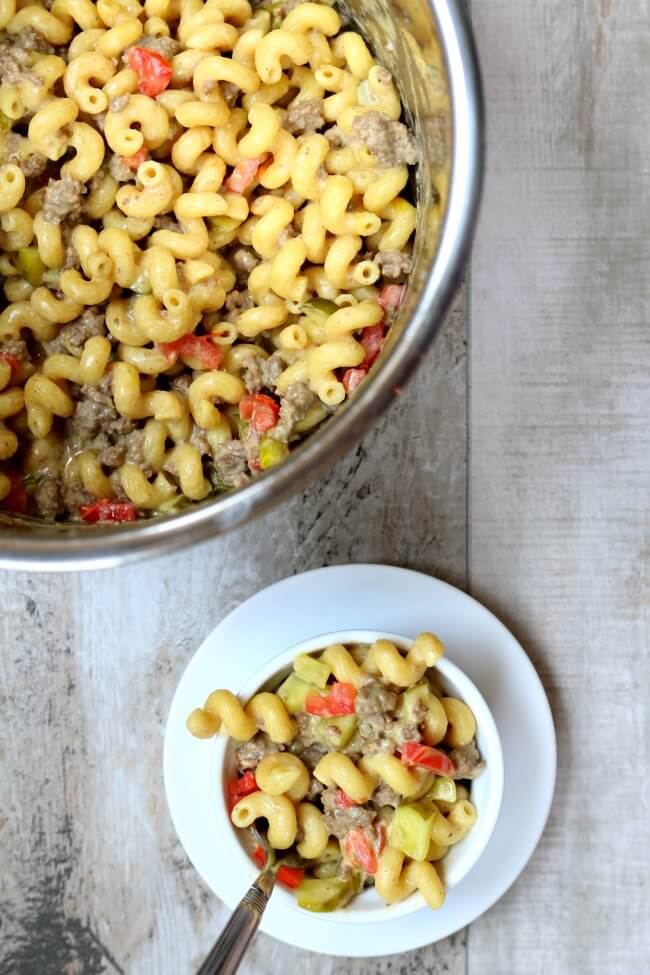 Instant Pot Cheeseburger Macaroni And Cheese 365 Days Of Slow Cooking And Pressure Cooking