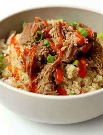 Instant Pot Pork Quinoa Cabbage Bowls