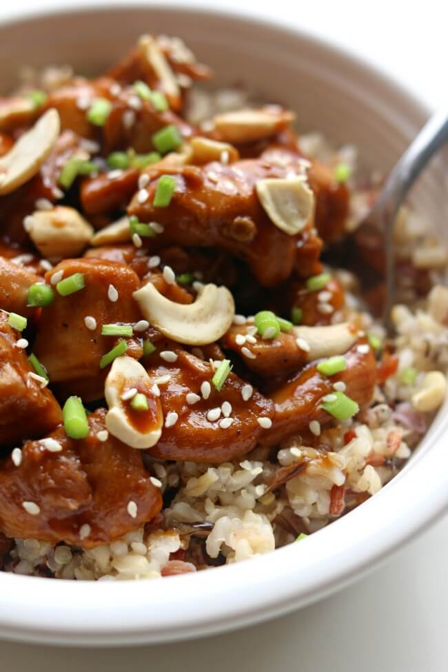 Instant pot cashew chicken 365 days of slow cooking and for Chicken recipes for the instant pot