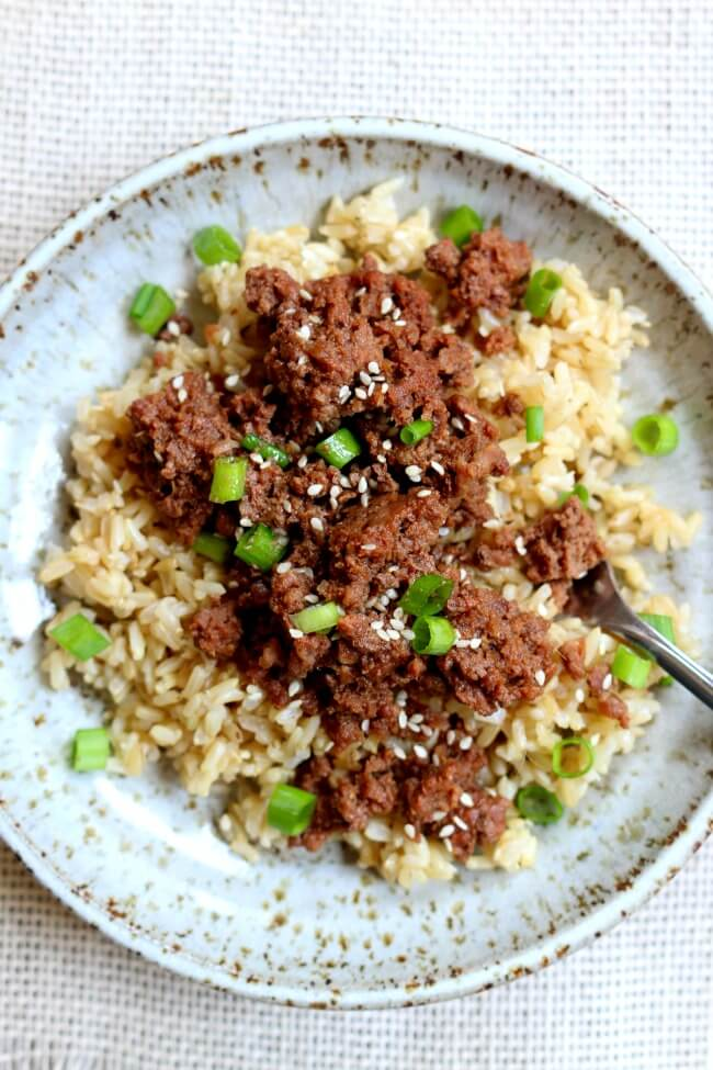 Instant Pot Cheater Korean Beef And Brown Rice 365 Days Of Slow Cooking And Pressure Cooking