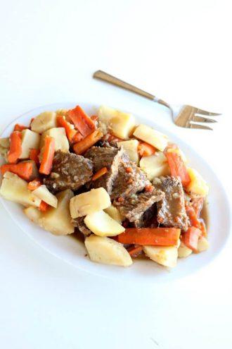 Instant Pot 5-Ingredient Pot Roast Dinner (from frozen)