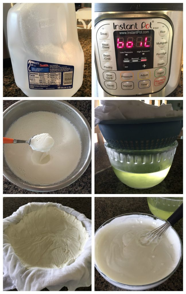 Steps to making Greek yogurt in the Instant Pot
