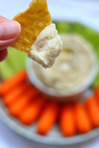 Instant Pot White Bean Garlic Hummus