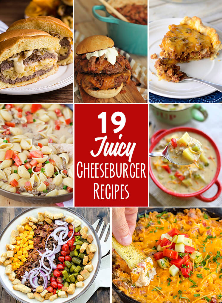 cheeseburger inspired recipes