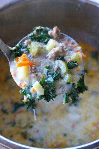 Instant Pot Parmesan Sausage Kale Soup