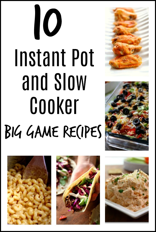 10 football party food ideas that you can make in your instant pot or slow cooker