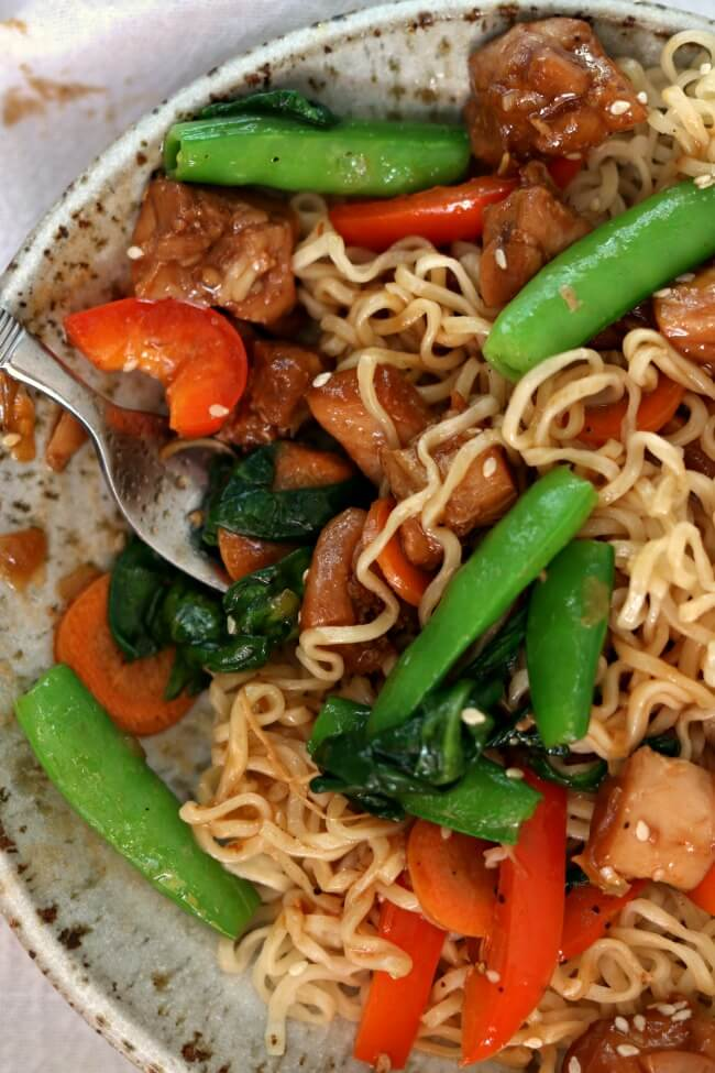 Instant Pot Honey Bourbon Chicken Noodle Bowls 365 Days Of Slow Cooking And Pressure Cooking