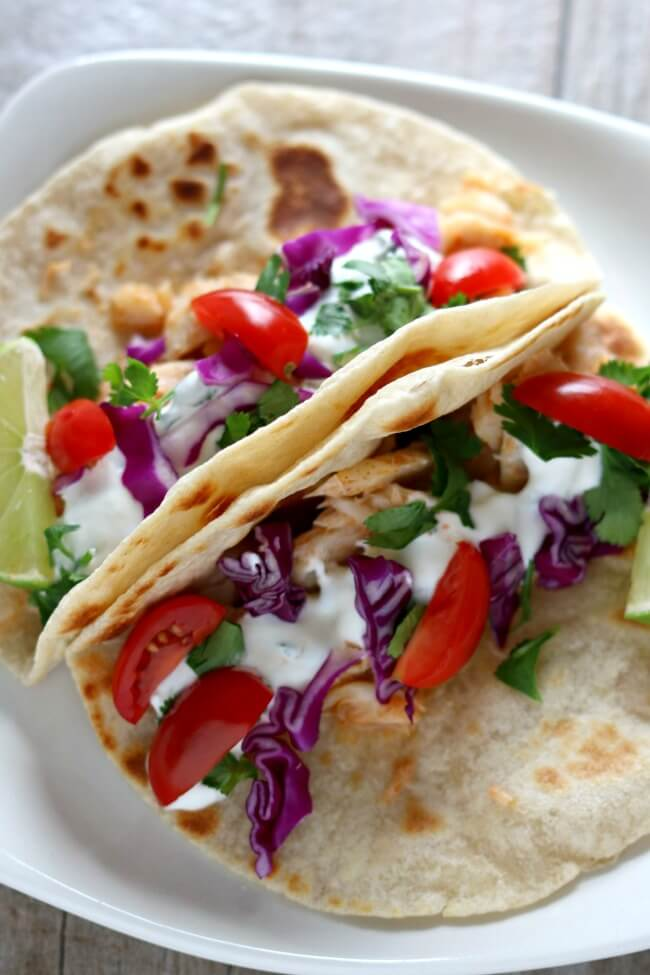 Alaska cod fish tacos with garlic lime sour cream slow for How to cook cod for fish tacos