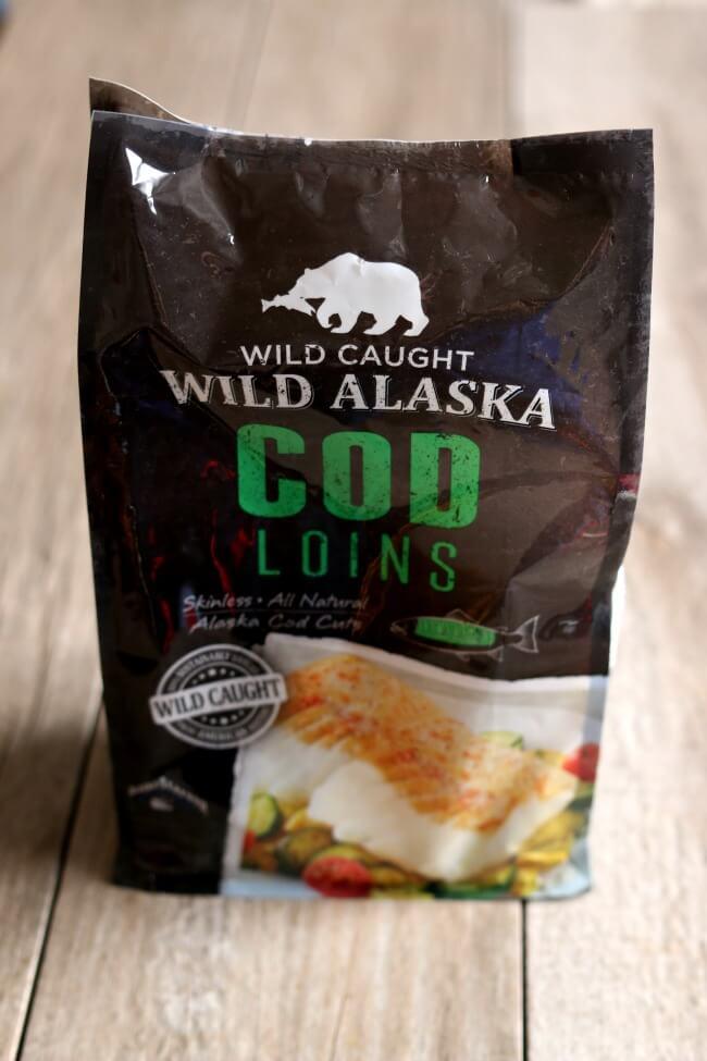 Wild alaska cod loins