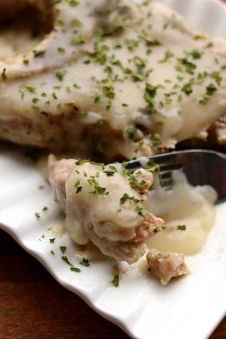 Creamy Mushroom Sauce Pork (Instant Pot/Slow Cooker)