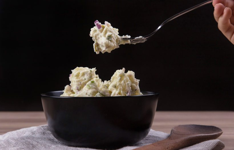 instant pot potato salad recipe with zero minute pressure cooking time