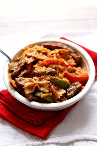 Instant Pot Steak Fajita Pasta
