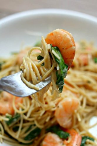 Instant Pot Lemon Garlic Parmesan Shrimp Pasta