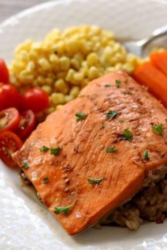 Instant Pot Teriyaki Salmon and Rice
