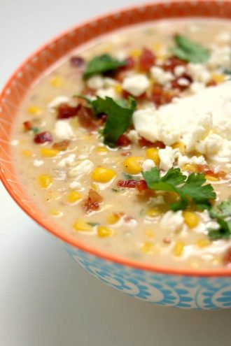 Slow Cooker Mexican Street Corn Soup