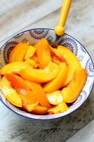 Easiest Way to Peel Peaches