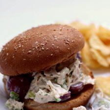 Instant Pot Chicken Salad Sandwich