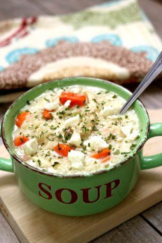 Instant Pot Greek Chicken Lemon Rice Soup