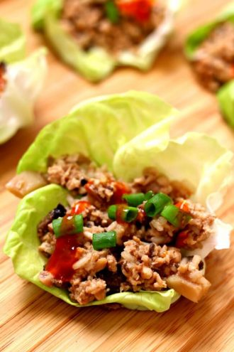 Instant Pot Chicken Lettuce Wraps