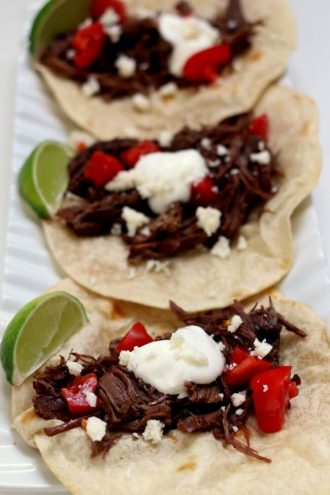 Instant Pot Shredded Beef Street Tacos