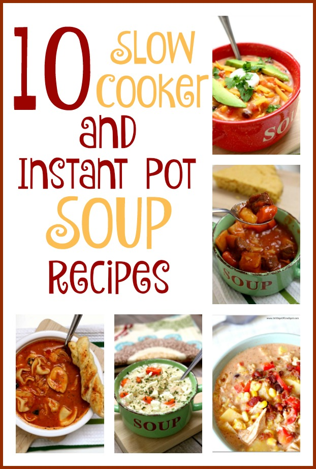 If your weather is getting a little chilly put on a pot of soup. These 10 Instant Pot and slow cooker soups are some of my absolute favorites! Plus the leftovers the next day taste so amazing. It's almost as if the flavors get better over time.