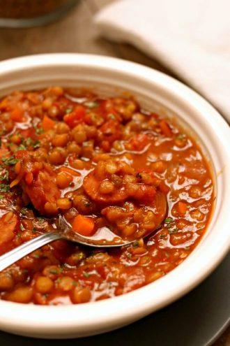 Slow Cooker Lentil Stew