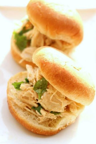 Slow Cooker Cilantro Lime Chicken Sliders