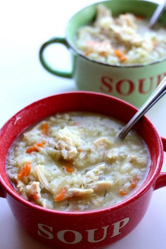 Instant Pot Chicken Lemon Orzo Soup