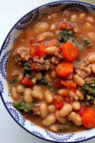 Instant Pot Tuscan Sausage White Bean Soup