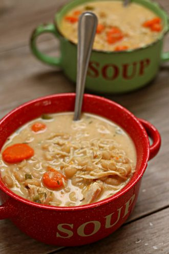 Instant Pot Chicken and White Bean Soup