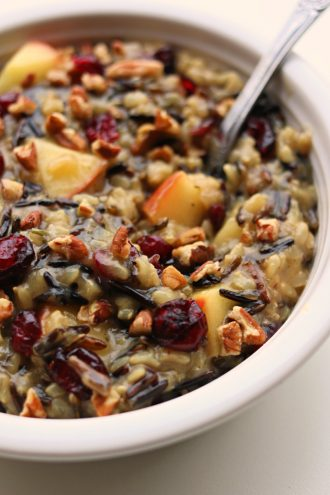 Instant Pot Cranberry Apple Pecan Rice Pilaf
