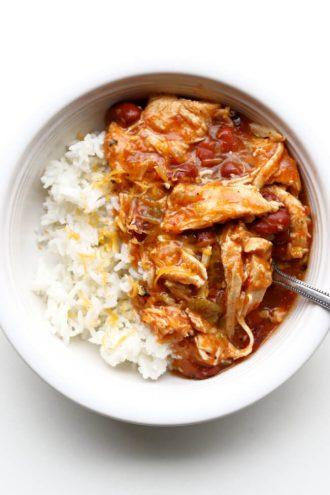 Slow Cooker Southwest Shredded Chicken Bowls