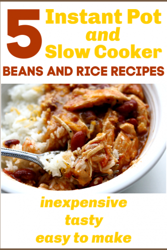5 Instant Pot and Slow Cooker Beans and Rice Recipes